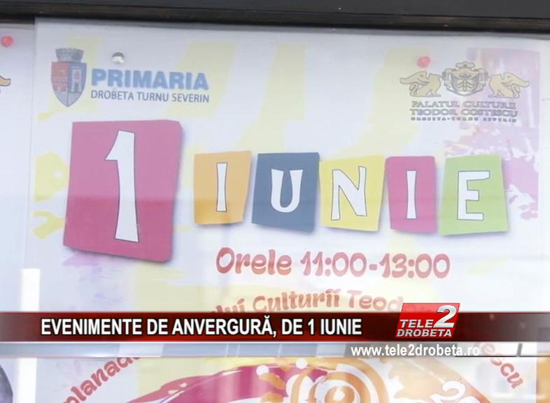 EVENIMENTE DE ANVERGURĂ, DE 1 IUNIE