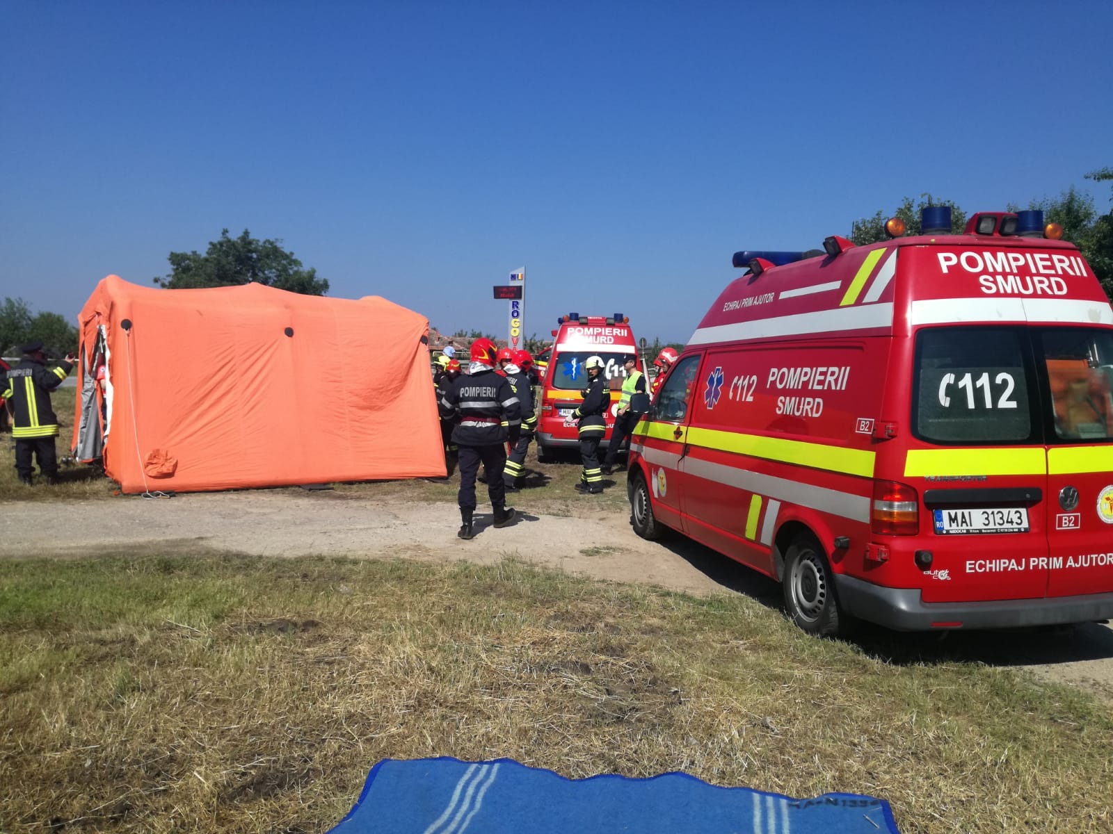 Simularea intervenţiei în cazul unui accident rutier cu victime multiple