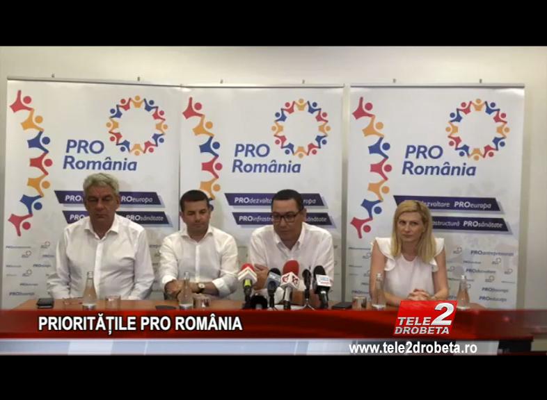 PRIORITĂȚILE PRO ROMÂNIA