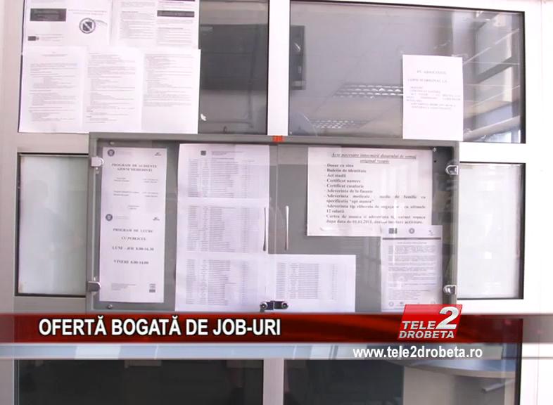 OFERTĂ BOGATĂ DE JOB-URI
