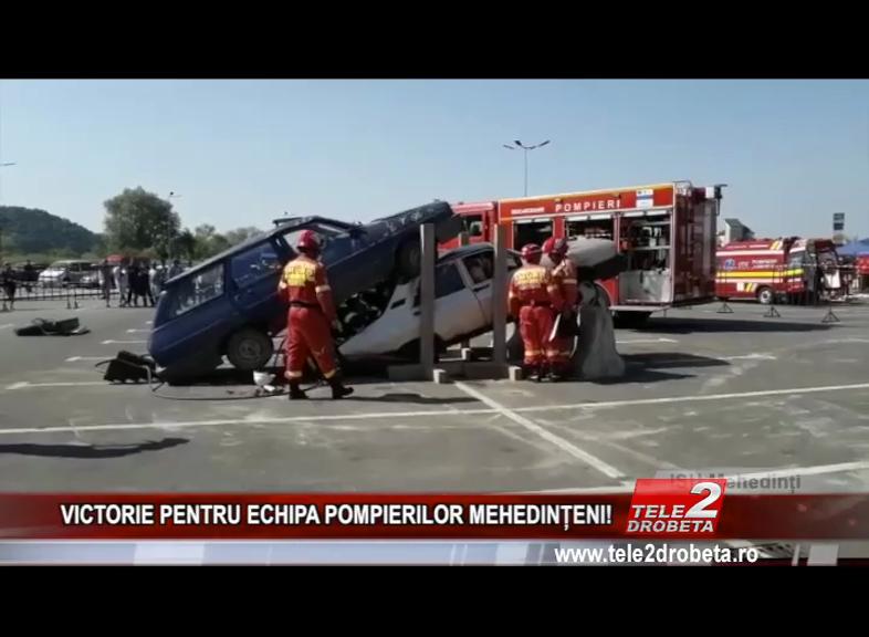 VICTORIE PENTRU ECHIPA POMPIERILOR MEHEDINȚENI!