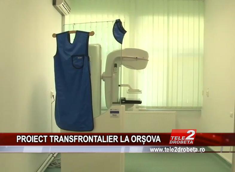 PROIECT TRANSFRONTALIER LA ORȘOVA