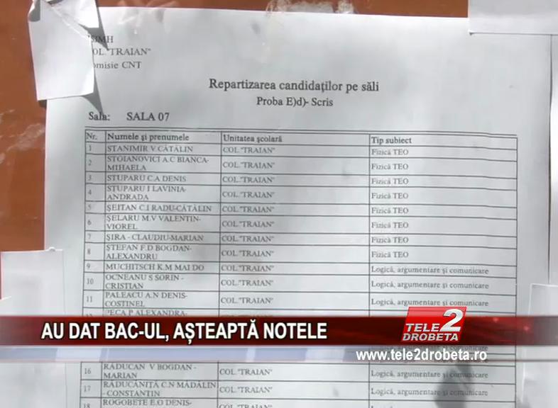 AU DAT BAC-UL, AȘTEAPTĂ NOTELE