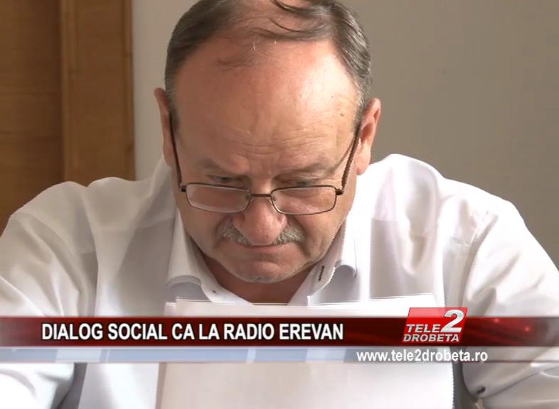 DIALOG SOCIAL CA LA RADIO EREVAN