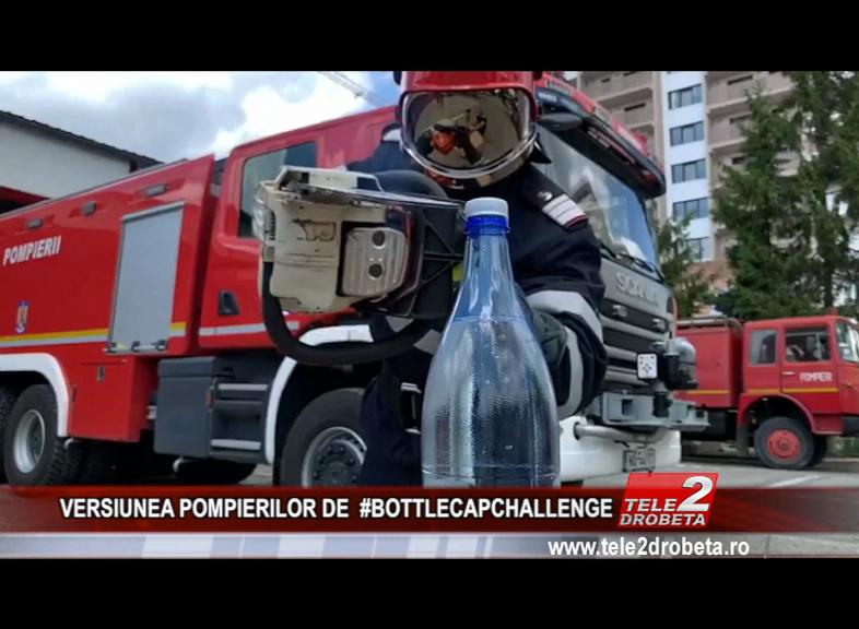VERSIUNEA POMPIERILOR DE #BOTTLECAPCHALLENGE