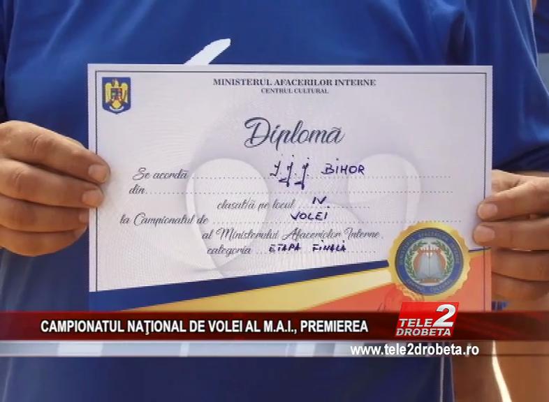 CAMPIONATUL NAŢIONAL DE VOLEI AL M.A.I., PREMIEREA