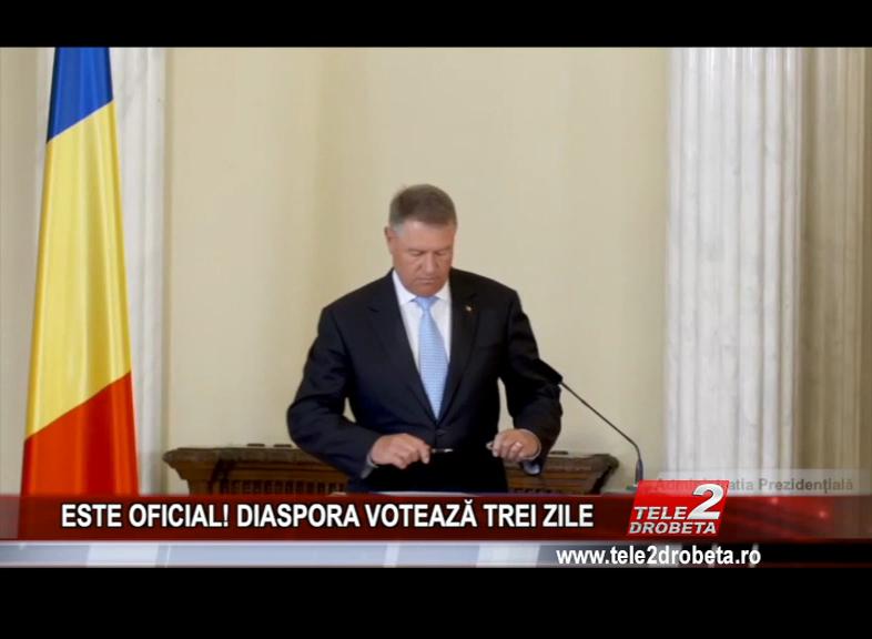 ESTE OFICIAL! DIASPORA VOTEAZĂ TREI ZILE