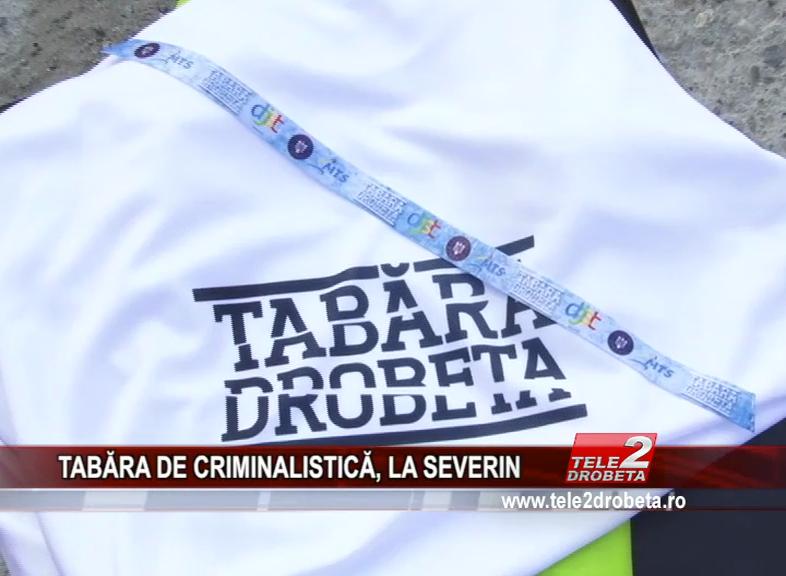 TABĂRA DE CRIMINALISTICĂ, LA SEVERIN