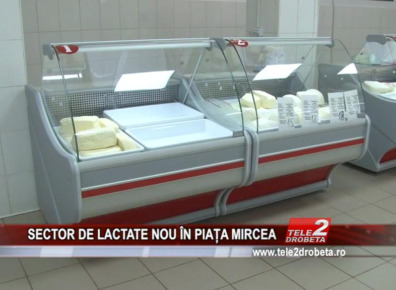SECTOR DE LACTRATE NOU ÎN PIAȚA MIRCEA