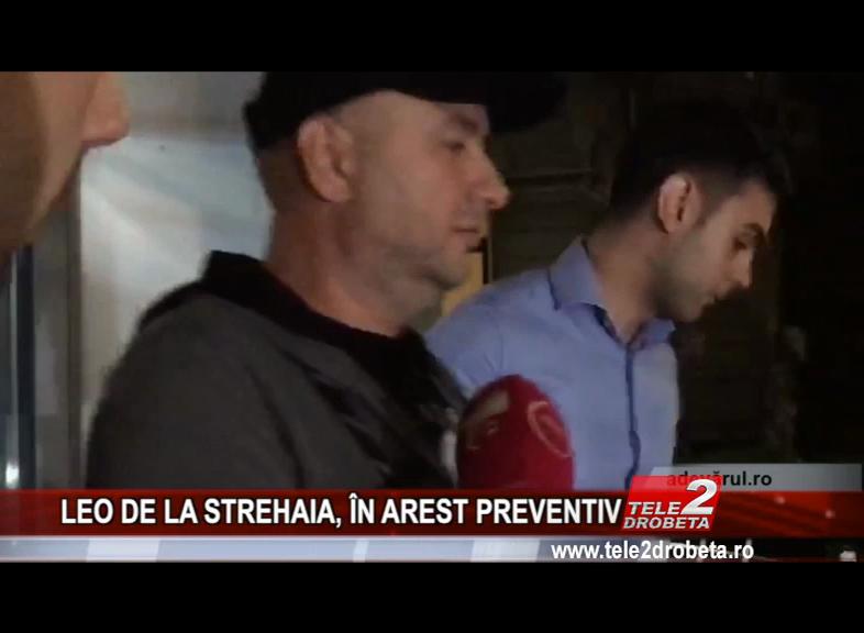LEO DE LA STREHAIA, ÎN AREST PREVENTIV