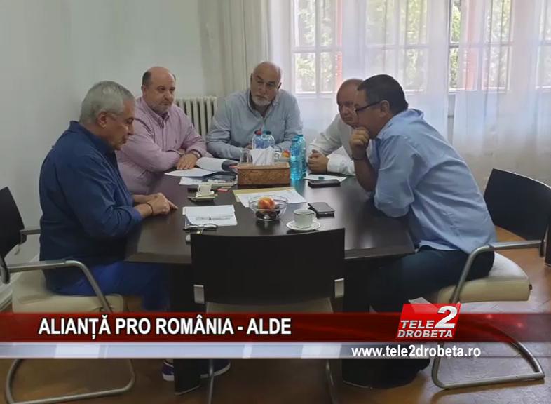 ALIANȚĂ PRO ROMÂNIA – ALDE