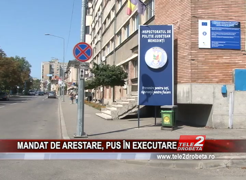 MANDAT DE ARESTARE, PUS ÎN EXECUTARE