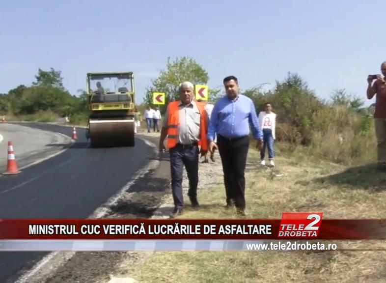 MINISTRUL CUC VERIFICĂ LUCRĂRILE DE ASFALTARE