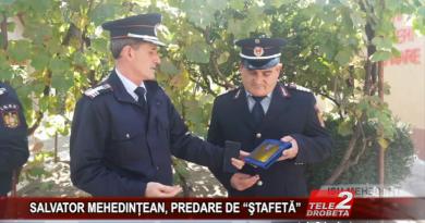 """SALVATOR MEHEDINȚEAN, PREDARE DE """"ŞTAFETĂ"""""""