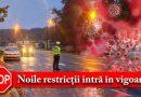 PRIMA NOAPTE DE RESTRICȚII, FILTRE ALE POLIȚIEI PE STRĂZI